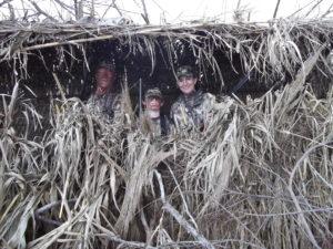 Chuck, Matthew, & Karen Ward Duck Hunting Near Katy, Texas