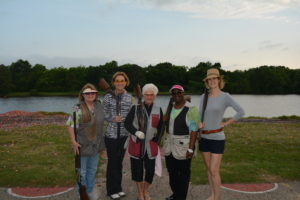 Sandi Nail, Karen Ward, Barbara Garney, Alicia Thomas & Jessica Forsdick Shooting the Polar Bear League at Hot Wells