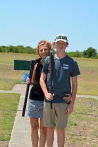 Karen and Matthew Ward Shooting Skeet on Mother's Day