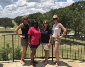 Karen Ward, Alicia Thomas, Pam Reed, and Jessica Forsdick at Joshua Creek Ranch.