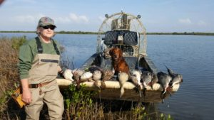 Sharon Propes enjoyed duck hunting at Larson's Lodge in Seadrift, Texas. January 2017