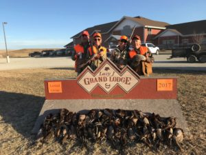 Chuck and Karen Ward join Lisa and Craig Darby in Ideal, South Dakota for a fun filled pheasant hunt at the Lazy J Grand Lodge.