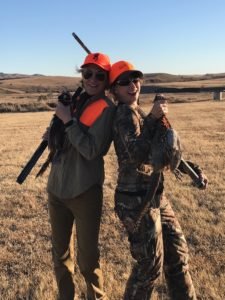 Karen Ward and Lisa Darby were all smiles after pheasant hunting at the Lazy J Grand Lodge in Ideal, South Dakota.